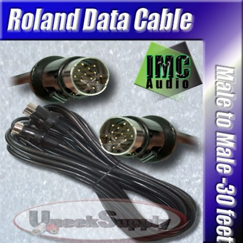 20FT 13PIN MIDI CABLE ROLAND GR33 GR20 GR30 GR VG 20 33 PLANET WAVES by IMC Audio
