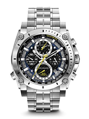 (Bulova Men's 96B175 Precisionist Stainless Steel Watch)