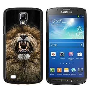 Dragon Case - FOR S4 Active I9295 (Do Not Fit S4) - lion roar sneeze funny teeth mane fur - Caja protectora de pl??stico duro de la cubierta Dise?¡Ào Slim Fit