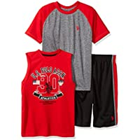 U.S. Polo Assn. Boys' T-Shirt, Tank and Mesh Short Set