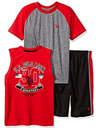 U.S. Polo Assn... Boys T-Shirt, Tank and Mesh Short Set