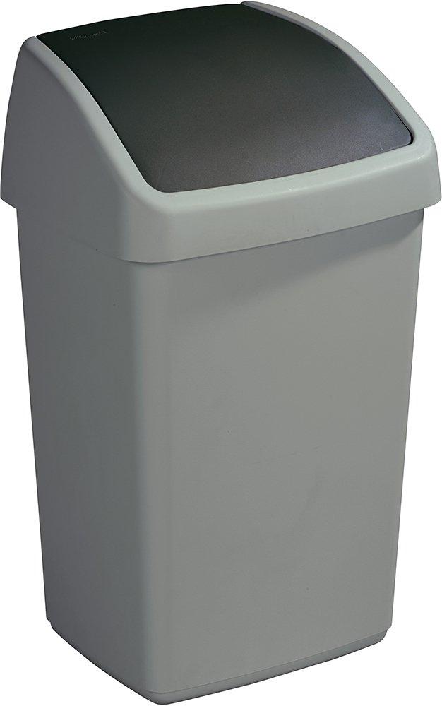Delta poubelle métal & noir 25 litres