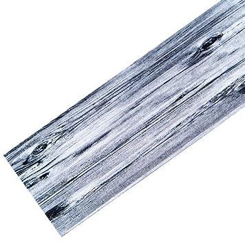 Flur teppich waschbar  Teppich-Läufer Waschbar rutschfest | Design Holz Modern Grau ...