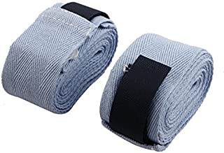 Dealmux en nylon fermeture Velcro de protection à la main Wrap supporter de boxe Bandage Paire Bleu