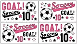 Soccer Pink Wall Decal (Set of 4 Sheets)