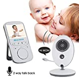 Balovee Baby Monitor With Camera Wireless Video With Digital Camera - 24-Hours Standby, Night Vision, 2.4-inch Large Screen, Temperature Monitoring Balovee