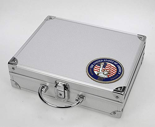 - SAFE Aluminum Coin Case USA with 6 coin trays