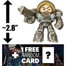 """Jim Raynor - Starcraft: ~2.8"""" Heroes of the Storm x Funko Mystery Minis Vinyl Figure + 1 FREE Video Games Themed Trading Card Bundle [44855]"""