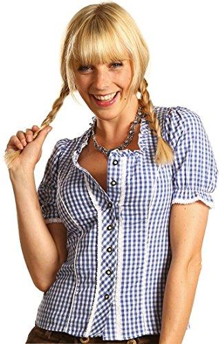Fuchs Damen Bluse Elista in verschiedenen Ausführungen, Größen:52;Farben:blau - weiss