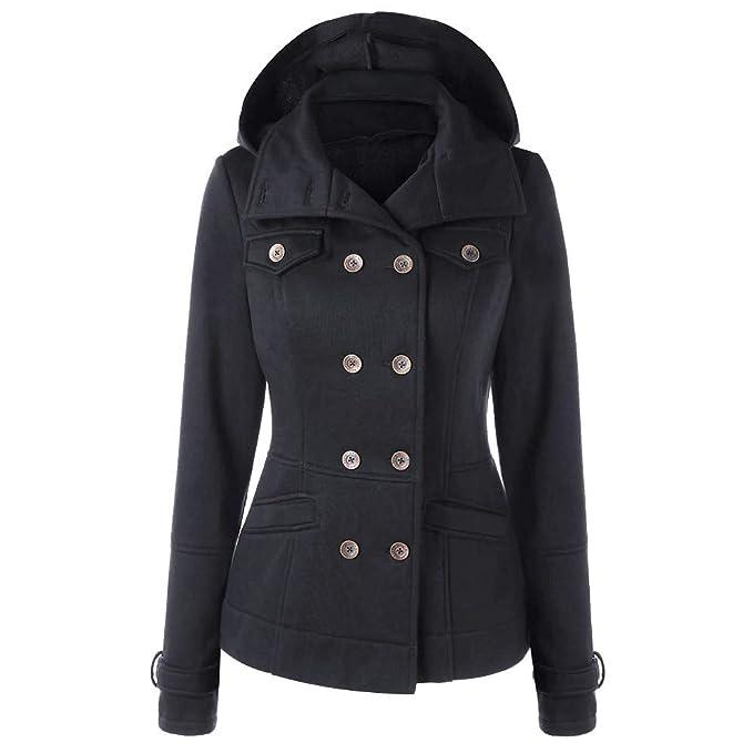 Amazon.com: GOVOW Vintage Long Sleeve Coat Women Plus Size ...
