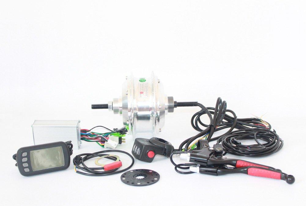 48ボルト350ワット電動自転車ハブモーターホイールキット一般自転車リアホイールモーター使用バンドブレーキとシングルフリーホイールことでlcdディスプレイ [並行輸入品] B07B946Y3V 48V350W witch LCD 48V350W witch LCD