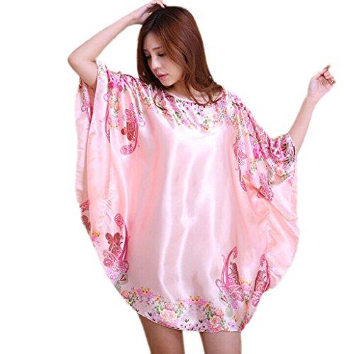 Acvip stile unica Abito notte Camicia stampato colori da camera donna da Accappatoio elegante per 17 taglia 27 Bagno rxRrp