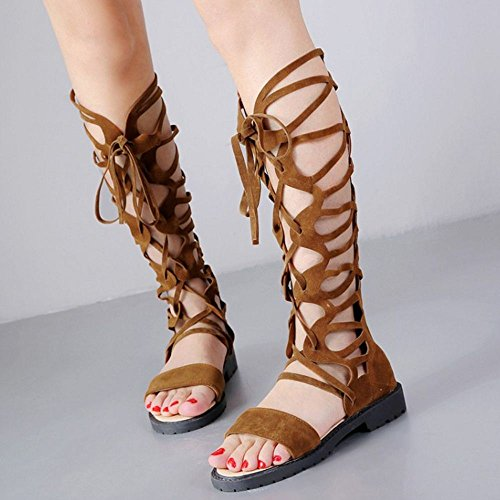 Donna Estive Brown Light Sandali Zanpa Scarpe vFwAdqq
