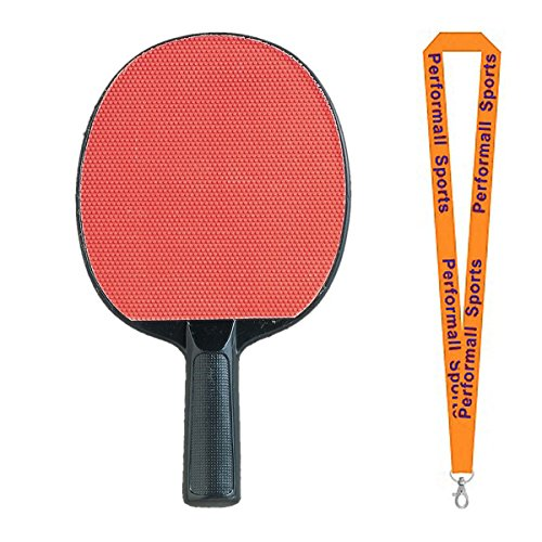 Champion Sports Table Tennis Paddle Assorted (Set of 4) Bundle with 1 Performall Lanyard PN4-4P by Champion Sports