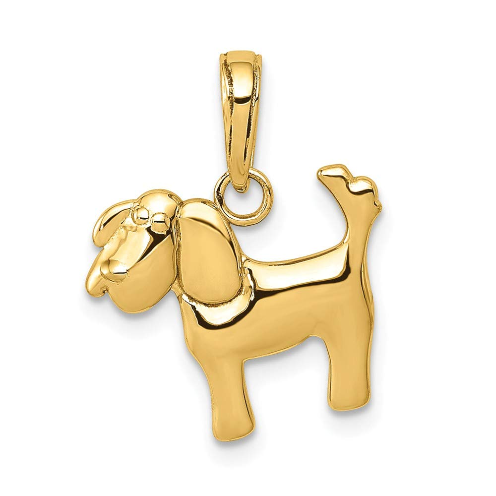 14k Polished Dog Charm by DiamondJewelryNY (Image #1)
