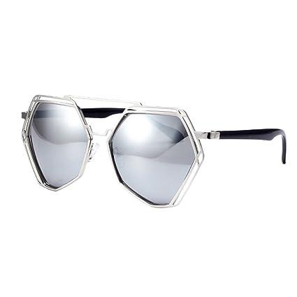 Amazon.com: Estilo único anteojos de sol lentes de espejo ...
