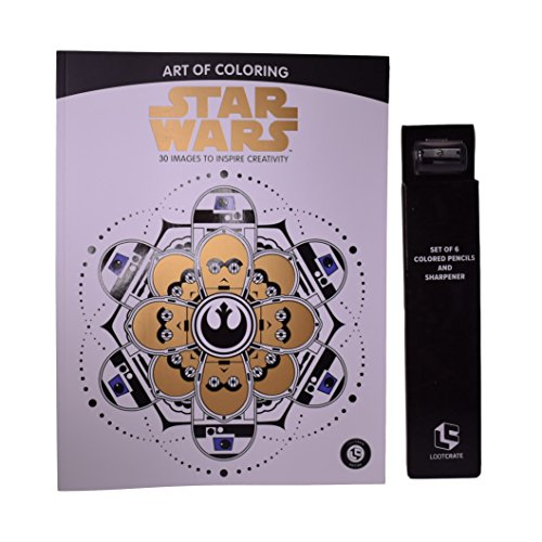 Star Wars Art of Coloring 30 Images with Colored Pencils - Loot Crate (Art Crate)
