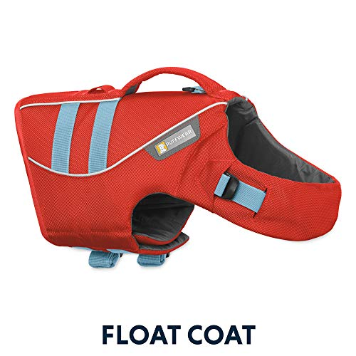 (RUFFWEAR - Float Coat Dog Life Jacket for Swimming, Adjustable and Reflective, Sockeye Red, Medium)