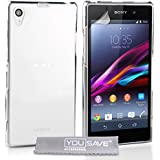 Yousave Sony Xperia Z1 Case Crystal Clear Hard Cover