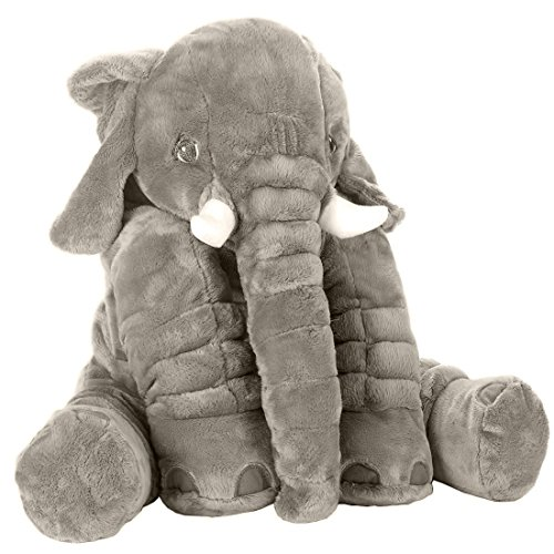 Stuffed Elephant Animal Fluffy Large Stuffed Elephant Plush Toy Softness Giant Gifts For Children Kids 24 Inches 1kg, (Elephant Bear)