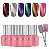 Perfect Summer Cat Eye Gel Polish - 6 Colors UV/LED Soak Off Nail Gel Polish 3D Magnetic, 8ml Each #06