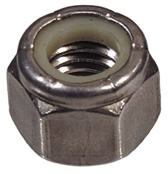 Stainless Steel 2-Pack The Hillman Group 43750 7//8-9-Inch Nylon Insert Lock Nut