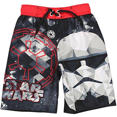 Star Wars Boys Swim Trunks Swimwear (5-6, Stormtrooper Black)
