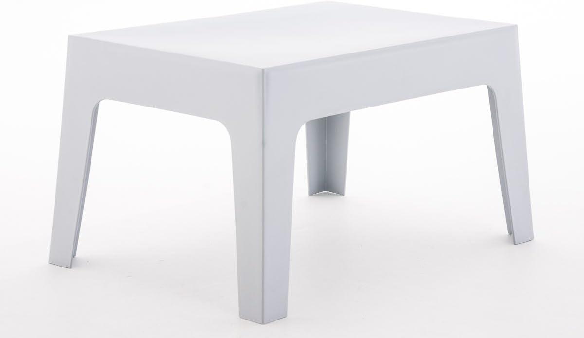 Hauteur 43 cm R/ésistante aux Intemp/éries et aux Rayons UV Couleurs Vert CLP Table Basse de Jardin Box en Plastique Table d/'Appoint pour Usage Ext/érieur Empilable