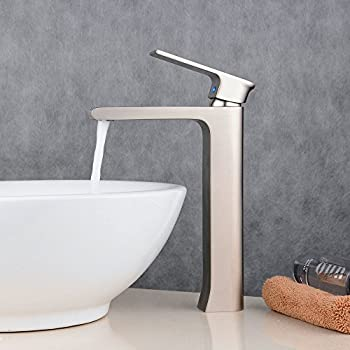 vessel sink faucets brushed nickel. Beelee bathroom tall vessel sink faucet brushed nickel single hole square