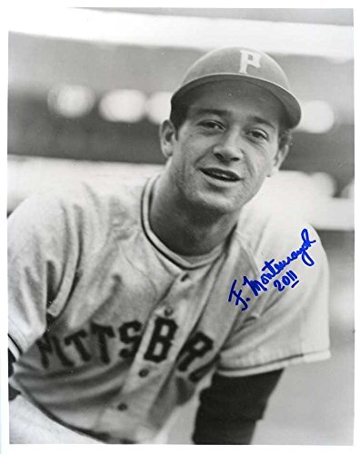 (Felipe Montemayor Autographed/ Original Signed 8x10 B&W Photo Showing Him w/ the Pittsburgh Pirates in the 1950s - He Is Also a Member of the Mexican Baseball Hall of Fame)