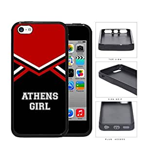 Athens City Girl School Spirit Cheerleading Uniform iPhone 5c Rubber Silicone TPU Cell Phone Case