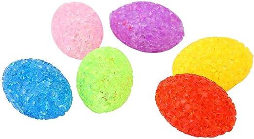 6pcs juguetes ovalados de pelotas de gatos, gatito para mascotas ...