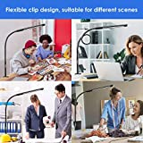 Swing Arm Lamp, Wellwerks LED Desk Lamp with Clamp, 12W Eye-Care Dimmable Light, Timer, Memory, 6 Color Modes,Modern Architect Table Lamp with Clamp for Task Study Reading Working Home Dorm Office