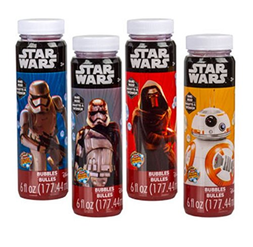 Star Wars Blowing Bubbles - 4 Bottles - 6 oz each bottle - by Disney Ml Bubble Wand