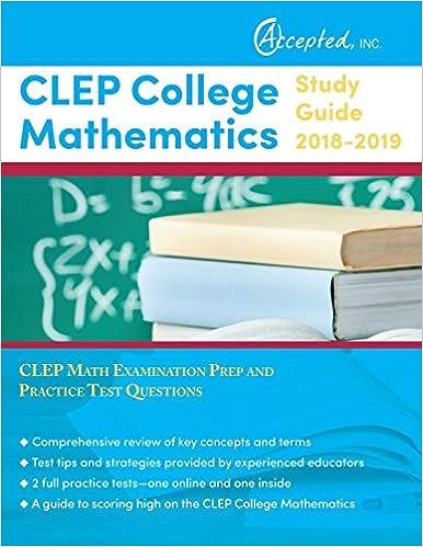 CLEP College Mathematics Study Guide 2018-2019: CLEP Math ...
