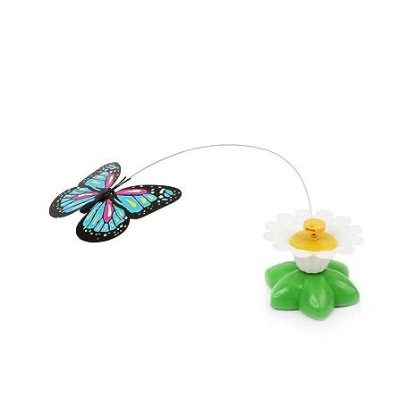 Ogquaton Juguete de Mariposas para Gatos Mascotas Gatos Divertidos Girando Eléctricamente Volando Mariposa Juguete Interactivo para