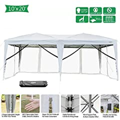 INSTANT DELIVERY is promised by US Stock & Local Delivery by FedEx/UPS/USPS. ISO 9001:2000 and ISO14001standard-certified manufacturer. Specifications [10'x10' w/ 4 Mesh Sidewalls] -Brand: VINGLI -Material: Iron Pole & 420D Oxford Fa...