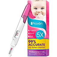 Pregnancy Test Early Detection - 5 Pregnancy Tests - One Step HCG Urine Pregnancy Test - Do It Yourself Home Pregnancy Tests - The Easy Way to Monitor Fertility - FMH-139 5-Pack - iProvèn (Pink)