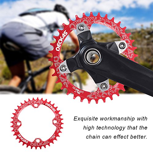 DECKAS Narrow Wide Bike MTB Round Oval Chainring Chain Ring Single Plate by CLKJYF