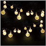 Mr.Twinklelight 30 LED 4.5M Waterproof Festival Lights LED Solar Lights Celebrate Wedding/Birthday/Christmas Party Warm White Solar String Lights [Energy Class A++]
