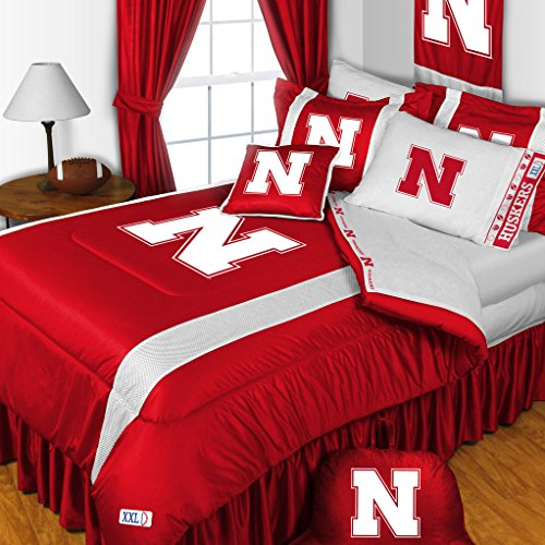 NCAA Nebraska Huskers Football 5pc Twin Bedding Set by Dream Time Kids Bedding
