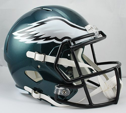 (NEW PHILADELPHIA EAGLES RIDDELL FULL SIZE DELUXE SPEED REPLICA FOOTBALL HELMET)