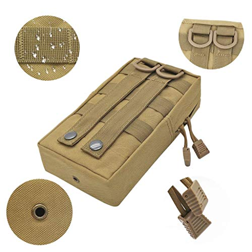 Camp Tan Pouch Phone Pocket 2x Belt Bags Molle Hiking Military Waist w6WC7pRqxW