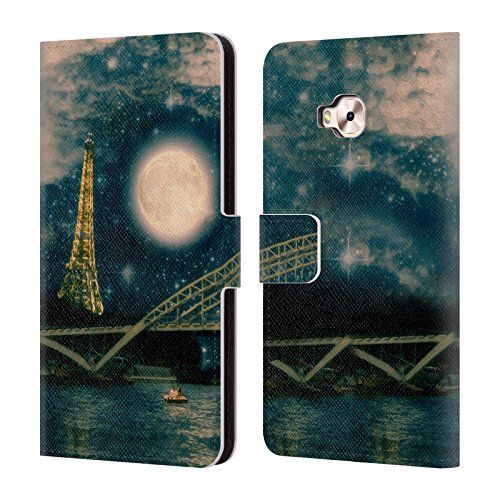 Moon Official In Zenfone Belle Paris Leather ZD552KL Night 4 Paris Case Selfie Case Night Head Flores In One Book Wallet Paula Pro Designs For One Cover qAwExTSvI