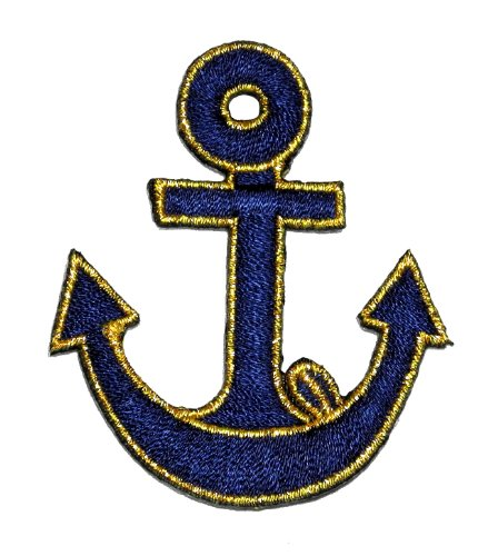 Anchor-Marine-Sailor-Naval-DIY-Applique-Embroidered-Sew-Iron-on-Patch-AC-004
