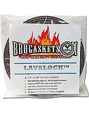 LavaLock 1/2 tum x 1/8 tum hög temp nomex BBQ HT packning rökare tätning, självhäftande grå