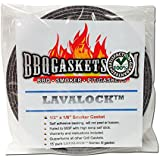 "1/2"" x 1/8"" Lavalock High Temp Nomex BBQ HT gasket smoker seal, self stick grey"