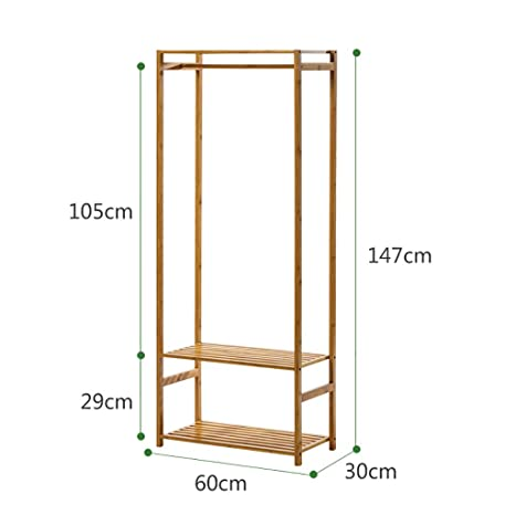 Amazon.com: RUNWEI Floor-Standing Hanger Wall Hanger Wooden ...
