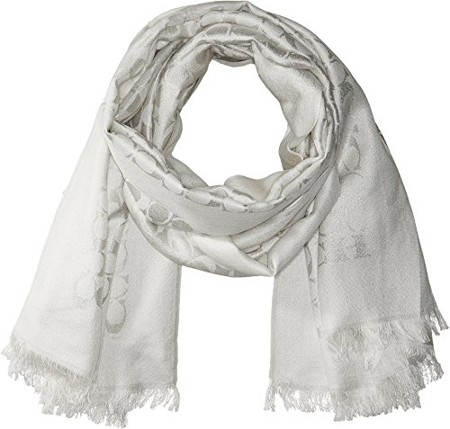 COACH Women's Signature C Metallic Stole Chalk/Silver One Size by Coach