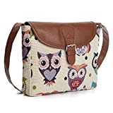 Nawoshow Fashion Women Lady Many Owl Satchel Cross-Body Bag Shoulder Bag Messenger Bag (D)